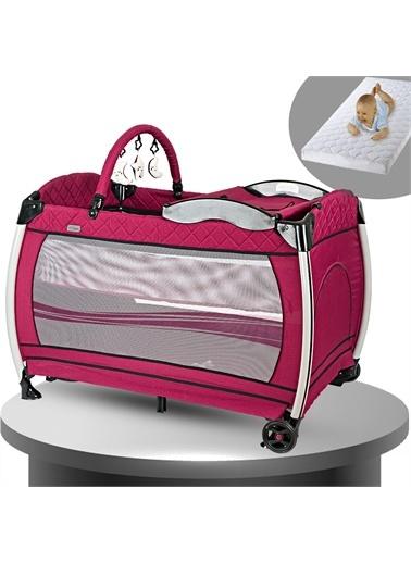 Baby Home Baby Home 600 Nanny 70x110 Bebek Oyun Parkı Yatak Beşik Sünger Yatak Hediye Bordo